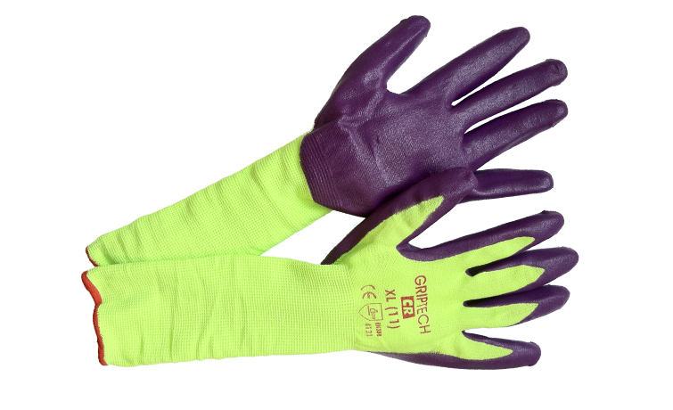 30+ % Savings and Reduced Waste with 14-Inch GripTech Gloves